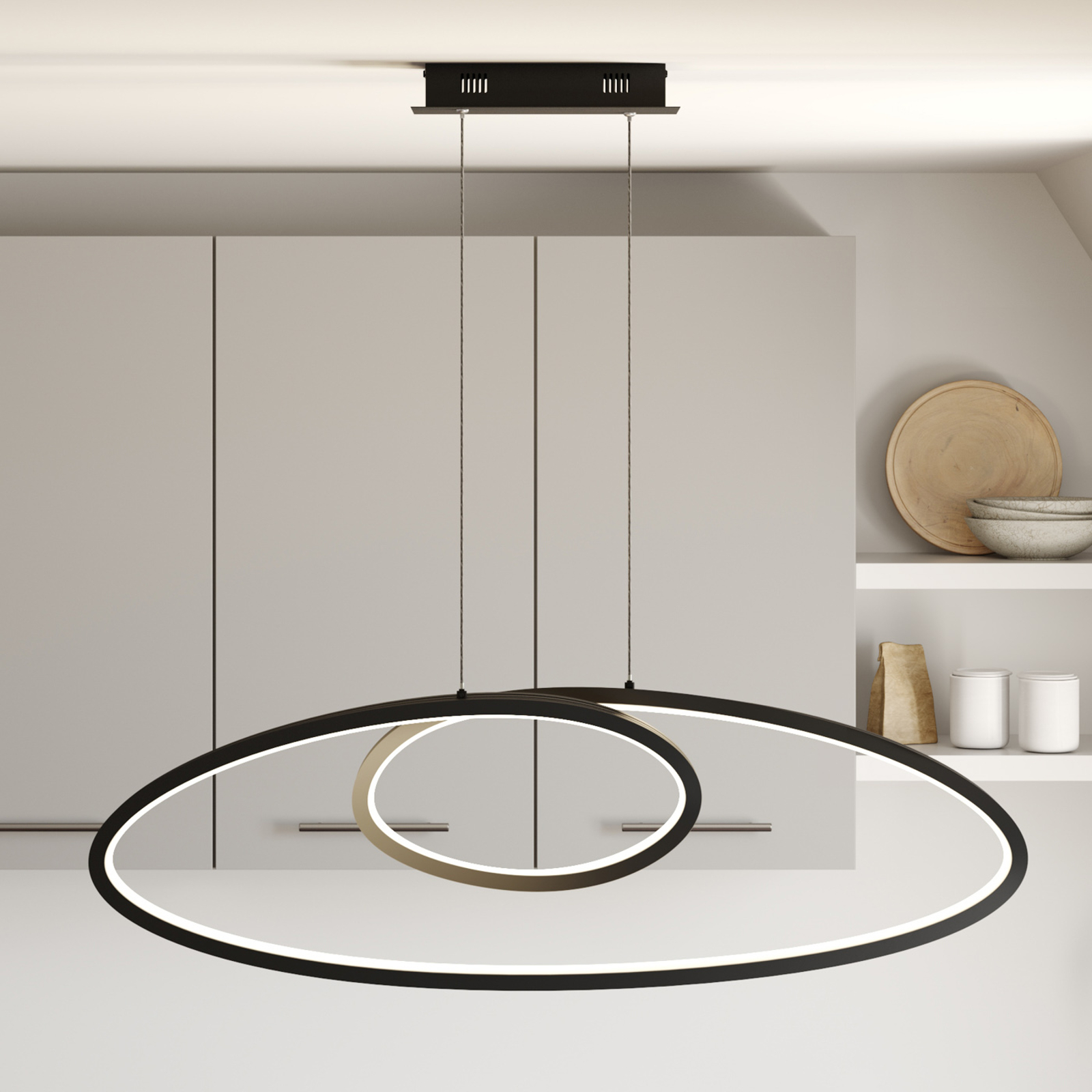 Lucande Bronwyn suspension LED