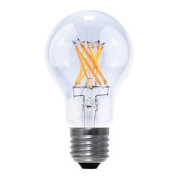 E27 8W 926 LED žárovka vzhled uhlíkové vlákno čirá