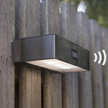 Solcelledrevet LED-sensor udendørsvæglampe Brick