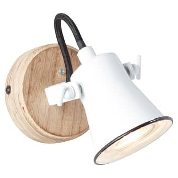 Reflektor ścienny Seed klosz biały