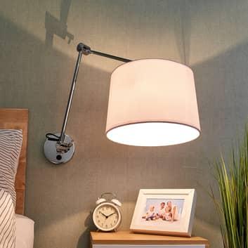 Stoffen wandlamp Jolla met wandbeugel & schakelaar