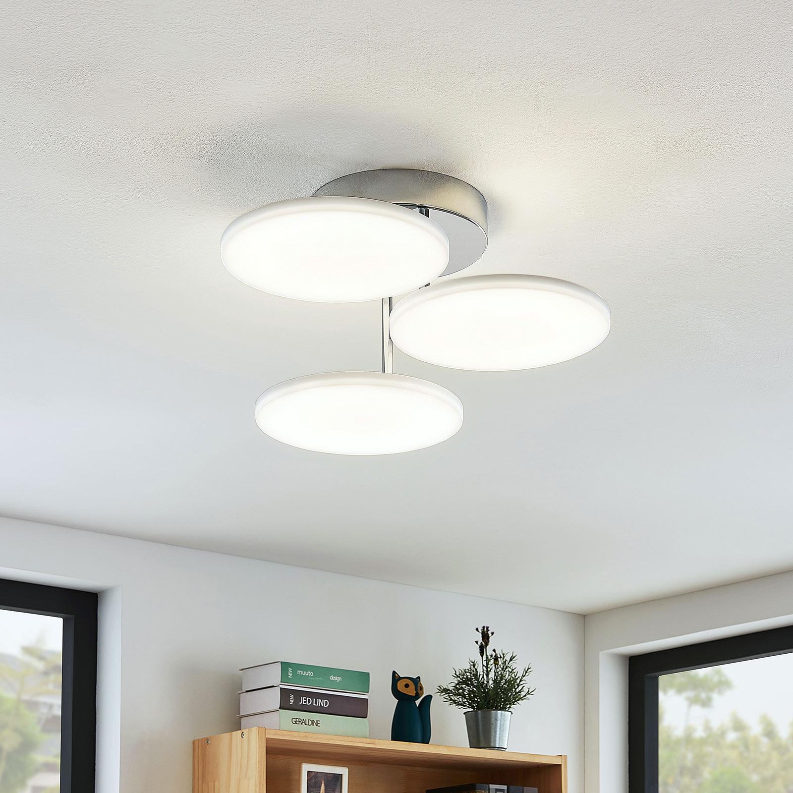 LED-Deckenleuchte Sherko, dimmbar, 3-flammig
