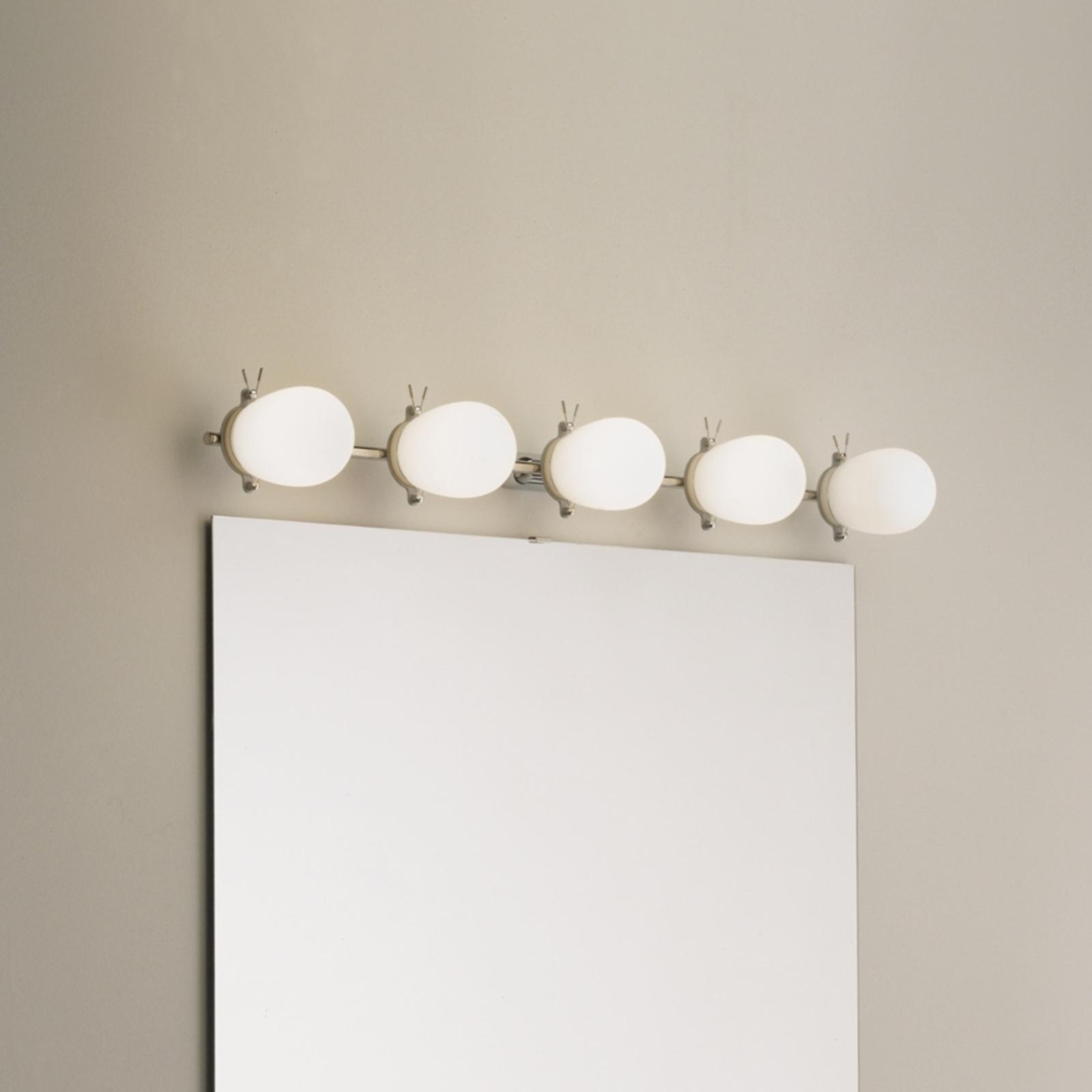 Formskön badrumsvägglampa Bano 5-lågig