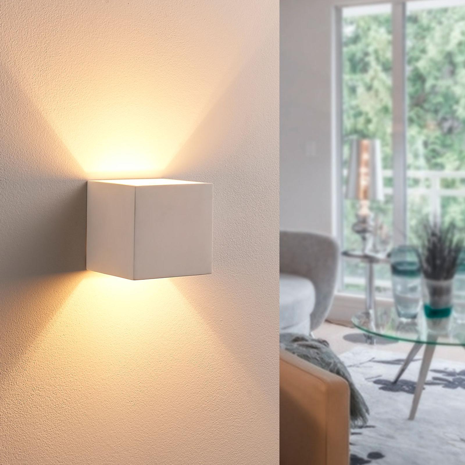 Naar boven en onder stralende LED gipslamp Kay