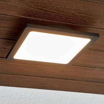 Ciemnoszara lampa sufitowa zewnętrzna LED Mabella
