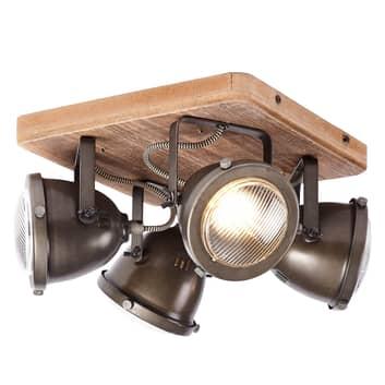 Čtyřbaňkové stropní světlo Carmen Wood
