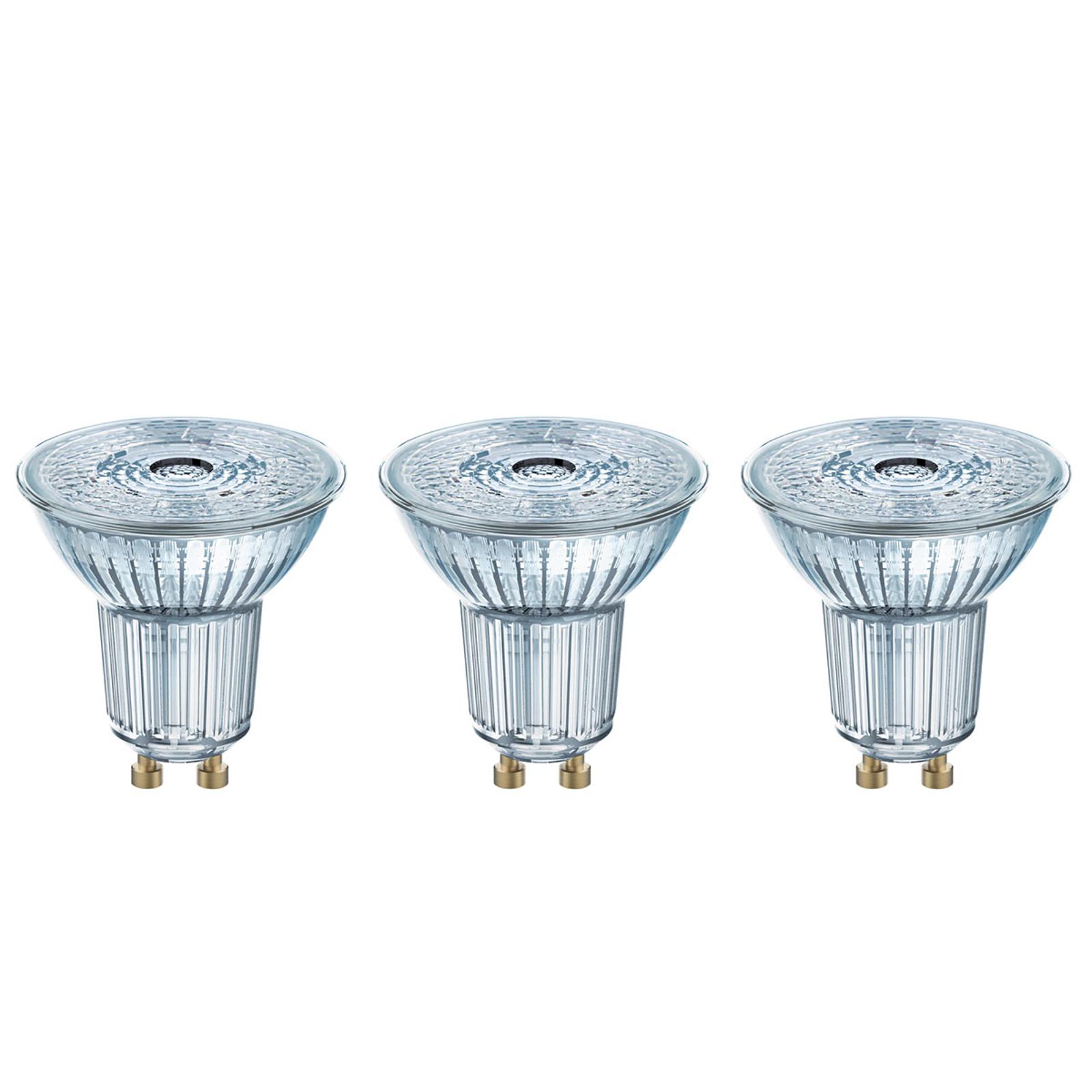 LED-Reflektor GU10 4,3W, universalweiß, 3er-Set