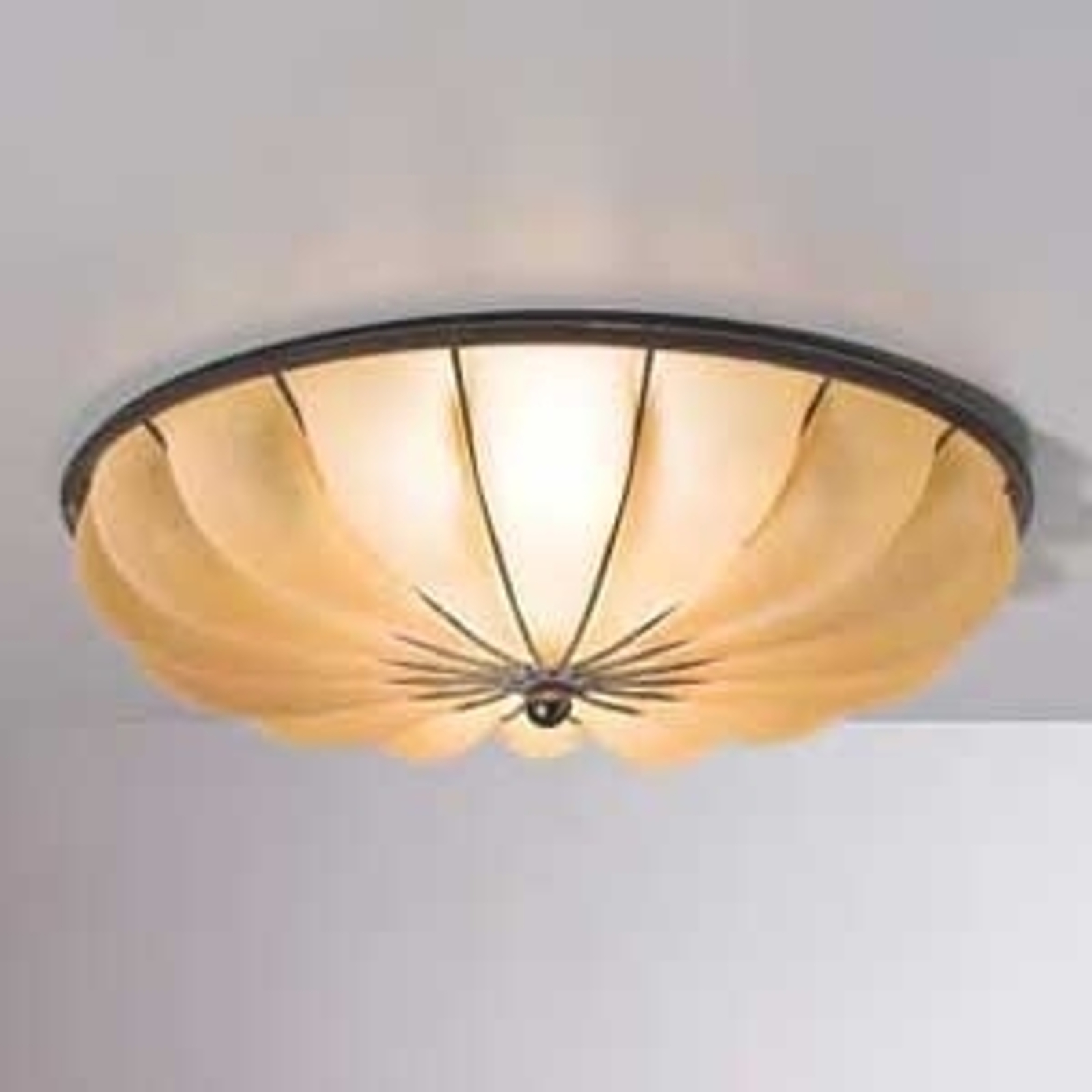 Halfronde plafondlamp RAGGIO, 40 cm