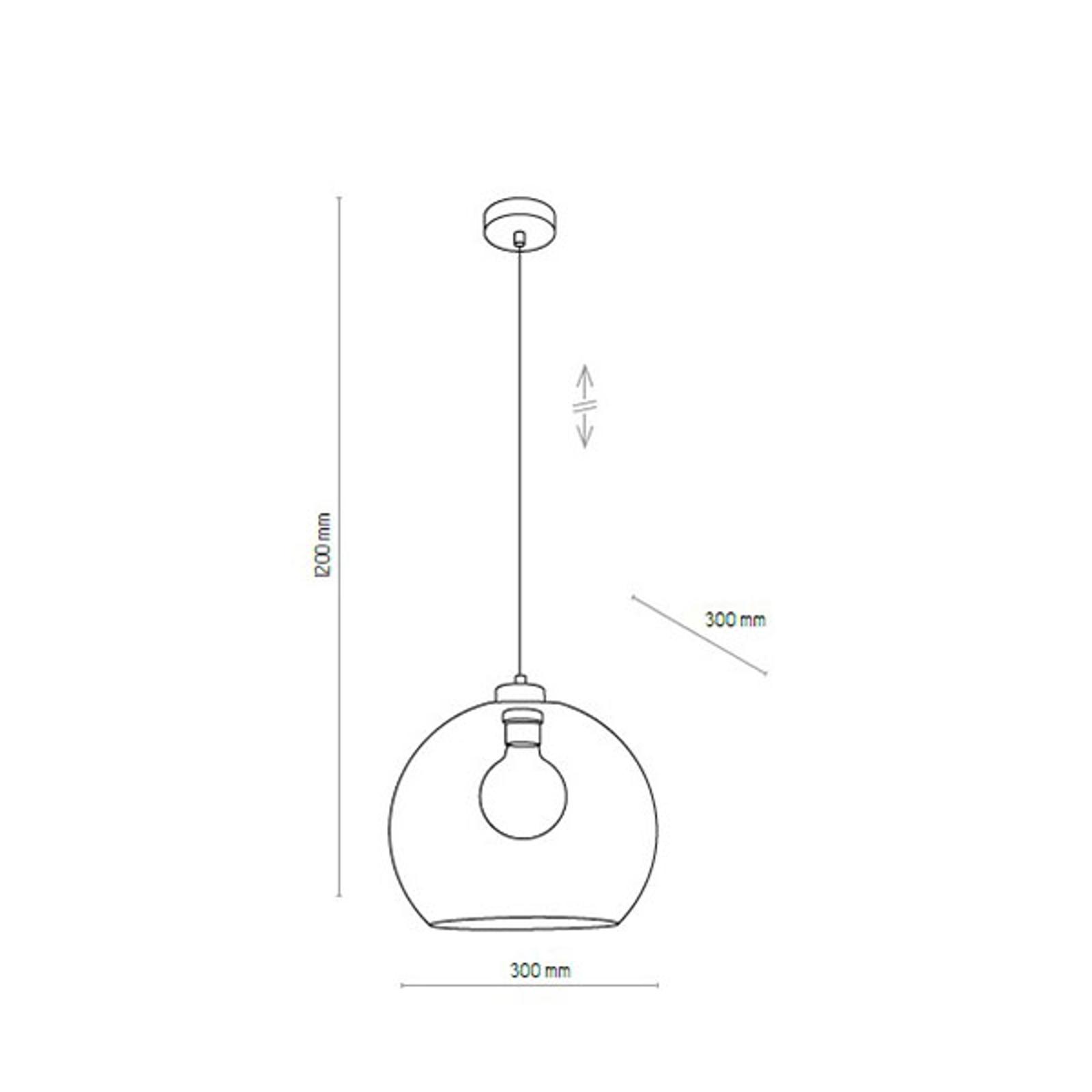 Lampa wisząca Cubus, 1-punktowa, bursztynowa