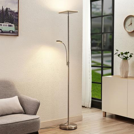 Lindby Kavi LED-gulvlampe med leselys, kantet