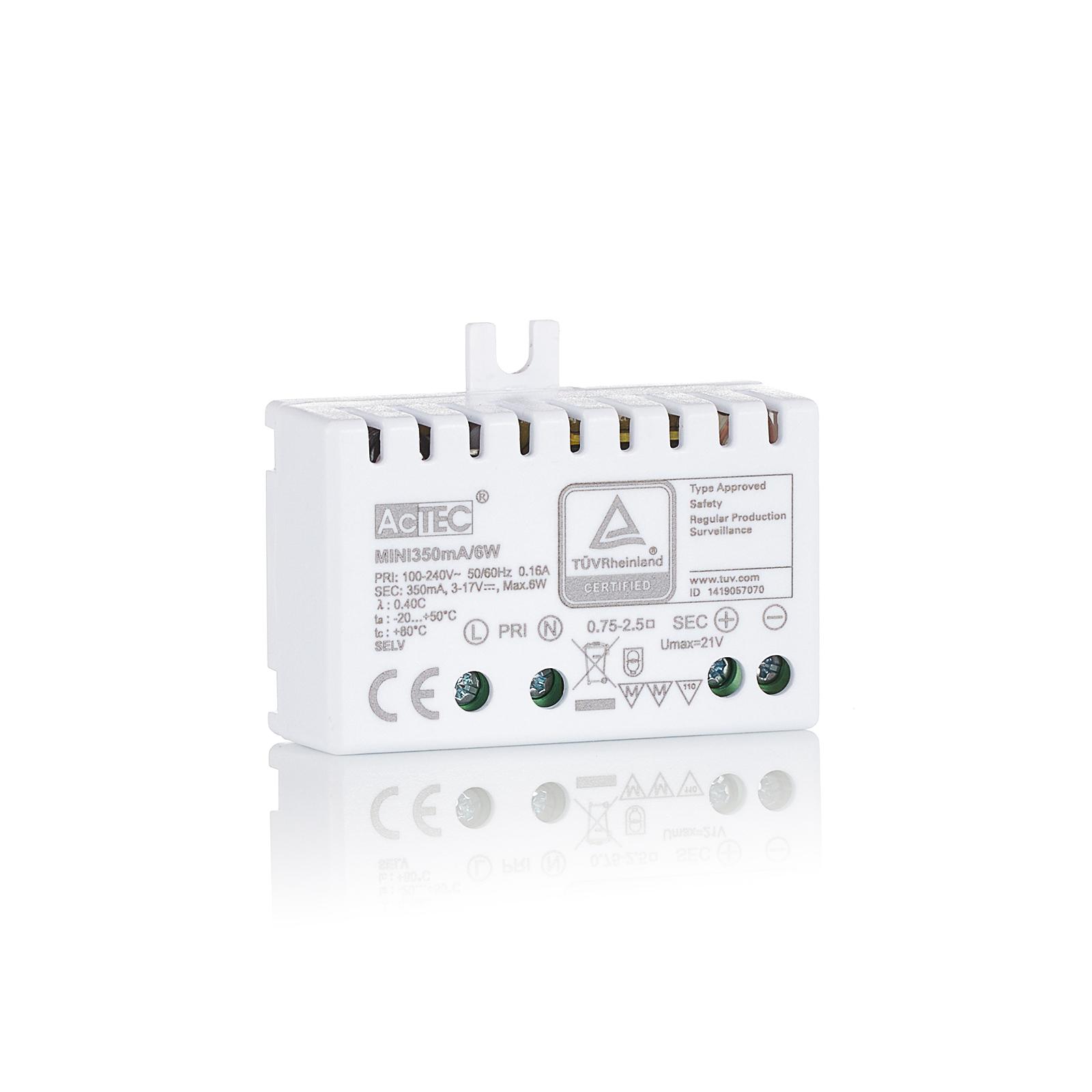 AcTEC Mini LED driver CC 350mA, 6W, IP20