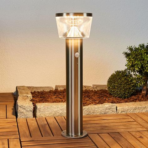 LED solární svítidlo se soklem Antje, snímač