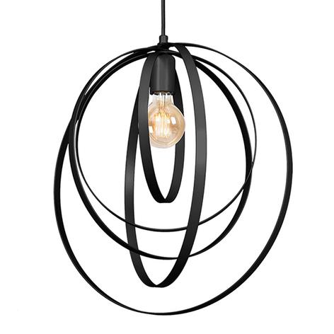 Lampada sospensione Ringo, 1 luce, nero