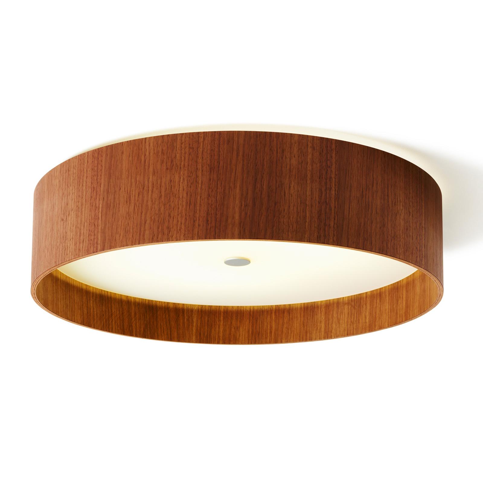 Plafonnier LED Lara wood en bois de noyer 55cm