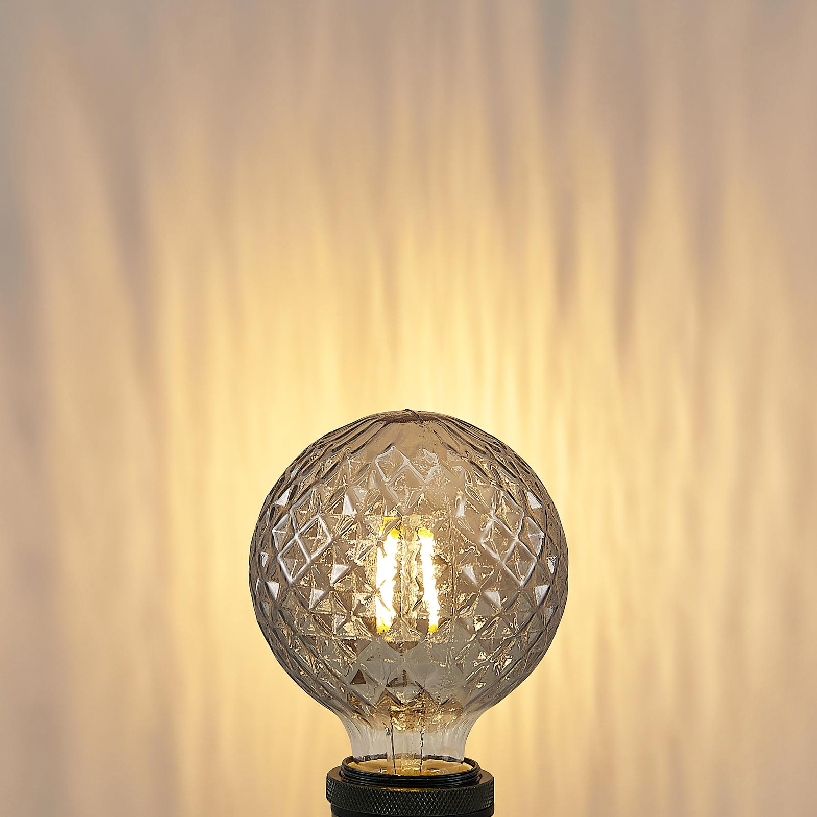 Lucande żarówka LED E27 G95 4W 2700K smoke