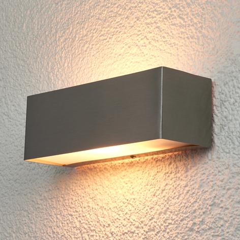 Rektangulær væglampe Alicja til udendørs