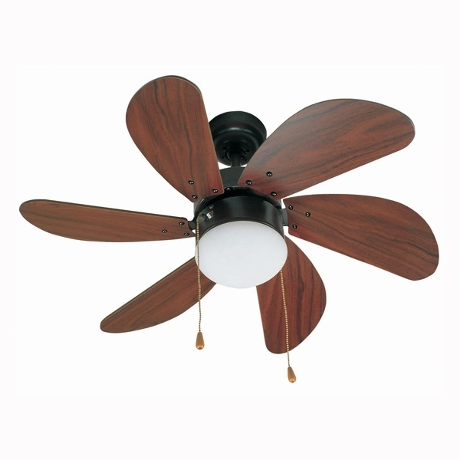 Beau ventilateur de plafond PALAO, marron