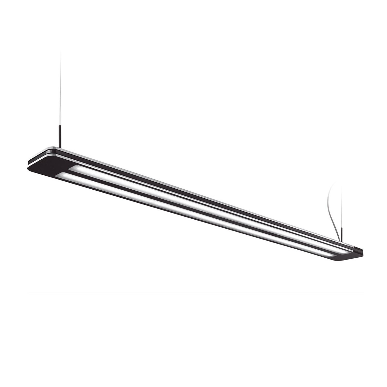 Suspension LED Trentino II, 156W, noire