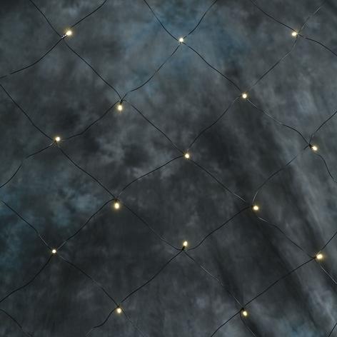 Tenda luminosa LED, 64 luci, bianco caldo, 2m