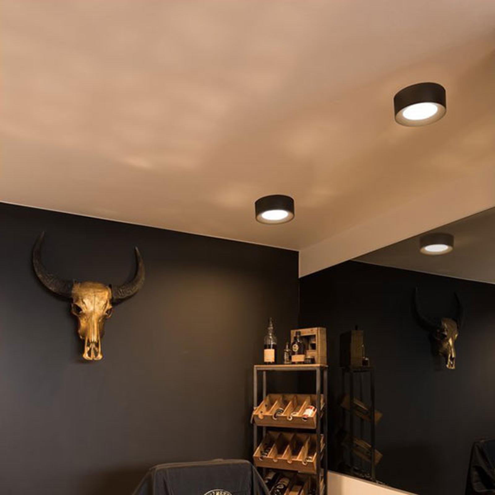SLV Fera lampa sufitowa LED, Ø 20 cm czarna matowa