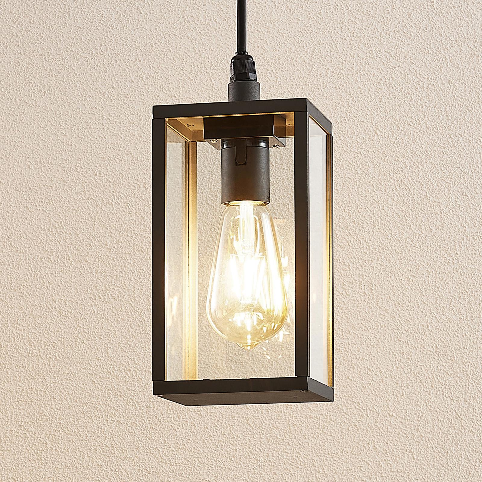 Lindby Filimon buitenhanglamp, donkergrijs, E27