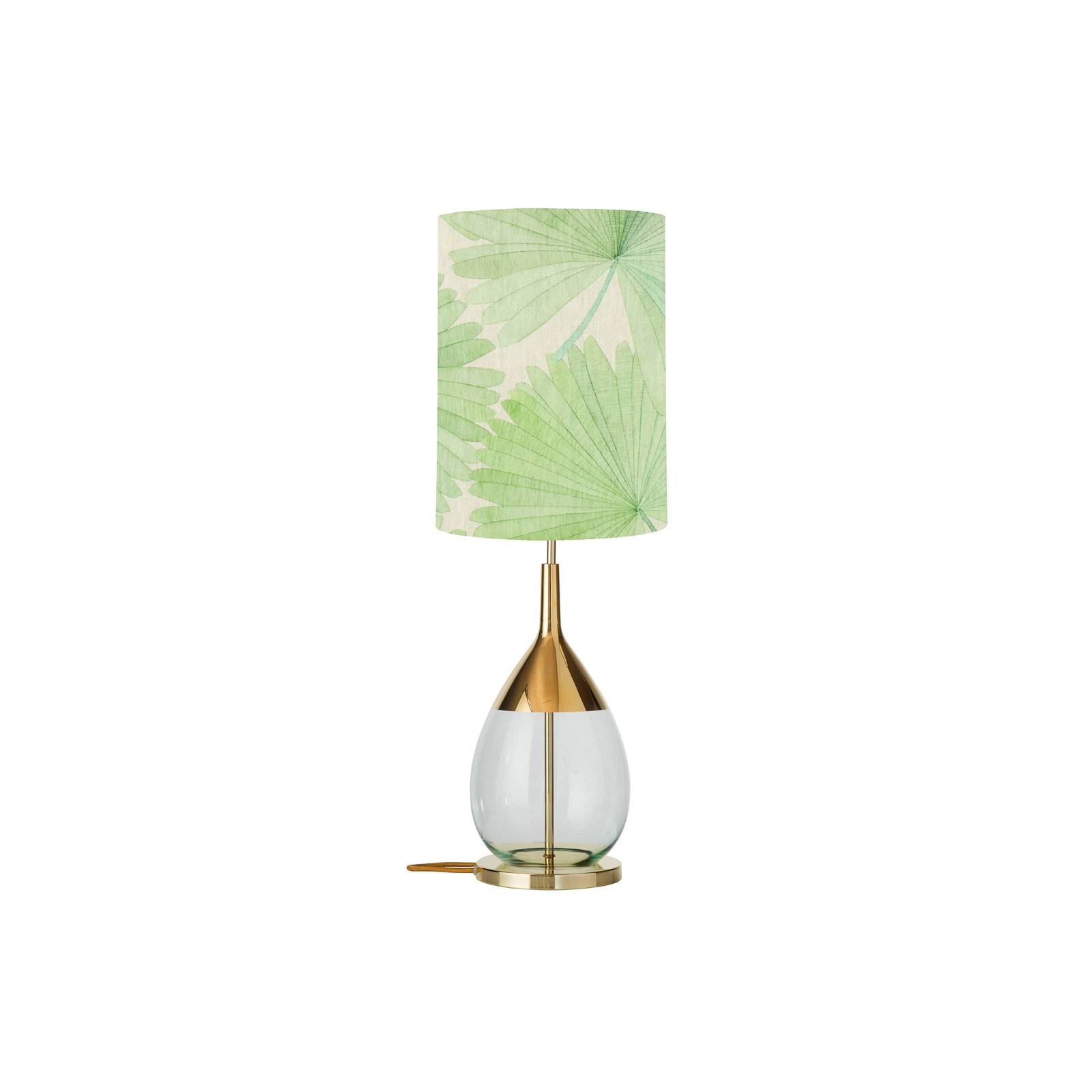 EBB & FLOW Lute Tischleuchte Tango palm green/gold