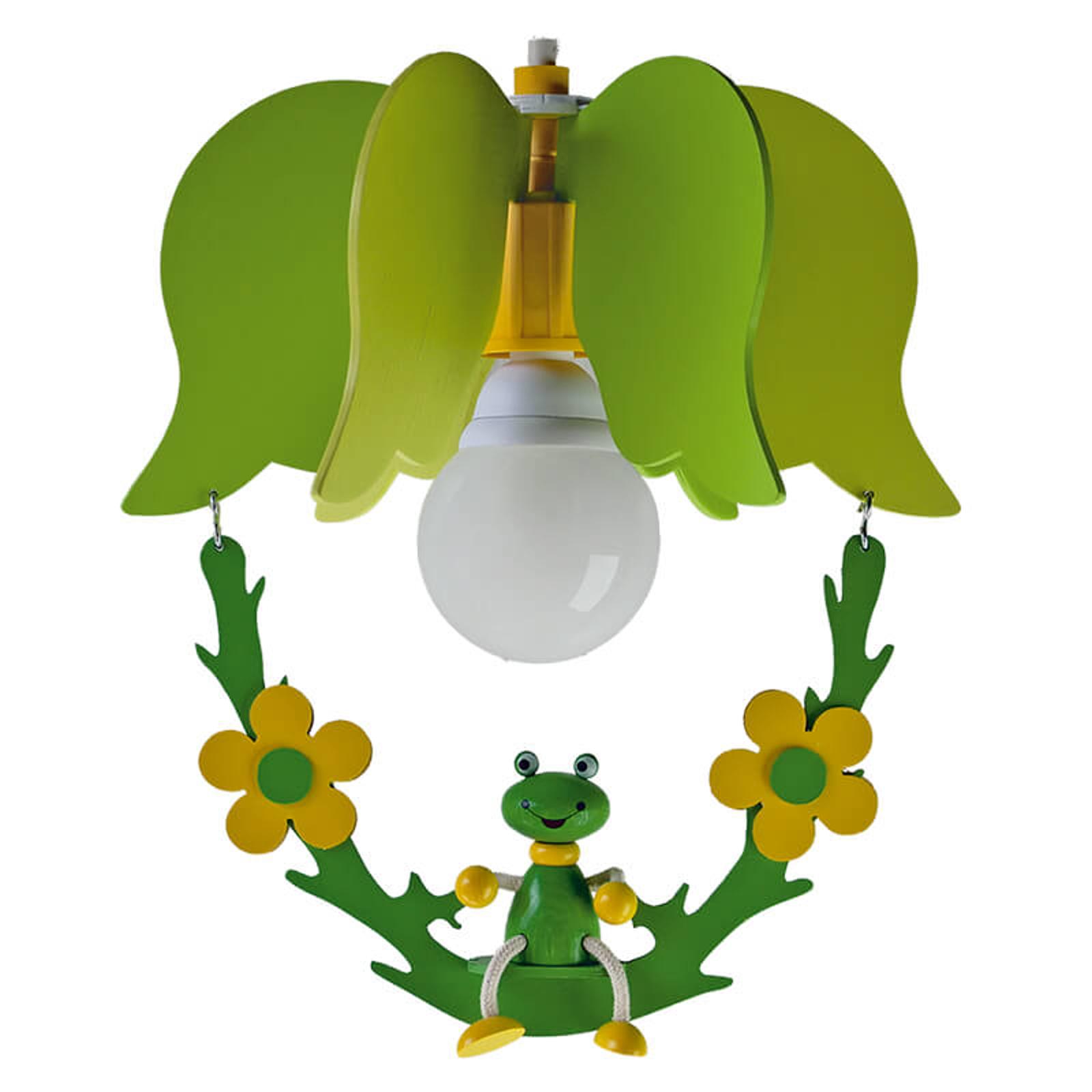 Lampa wisząca Żaba w kształcie kwiatu, z huśtawką