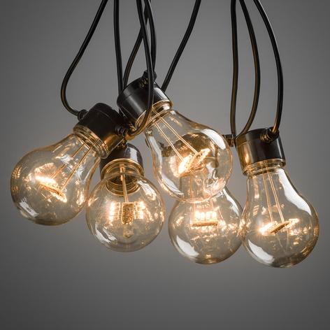 LED lyslenke Biergarten med ti lys