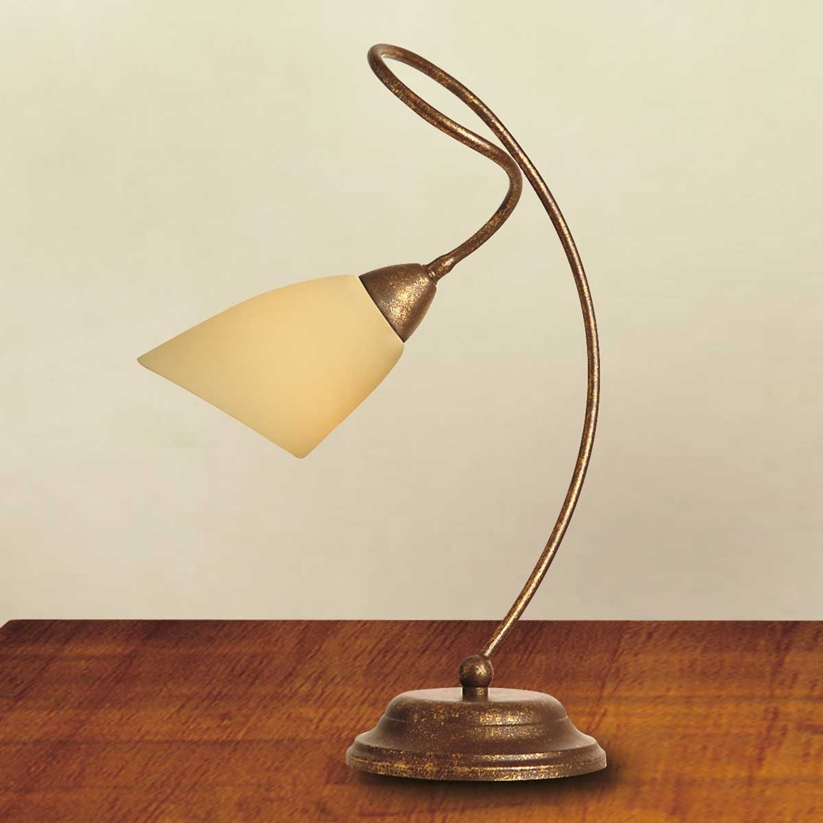 Tafellamp Alessandro, antiek bruin