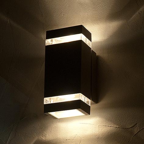 LED-Außenwandleuchte Focus eckig 2fl.