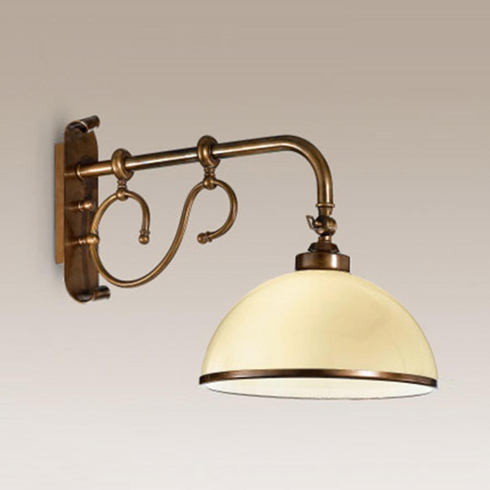 Kunstfærdig La Botte væglampe, elfenben