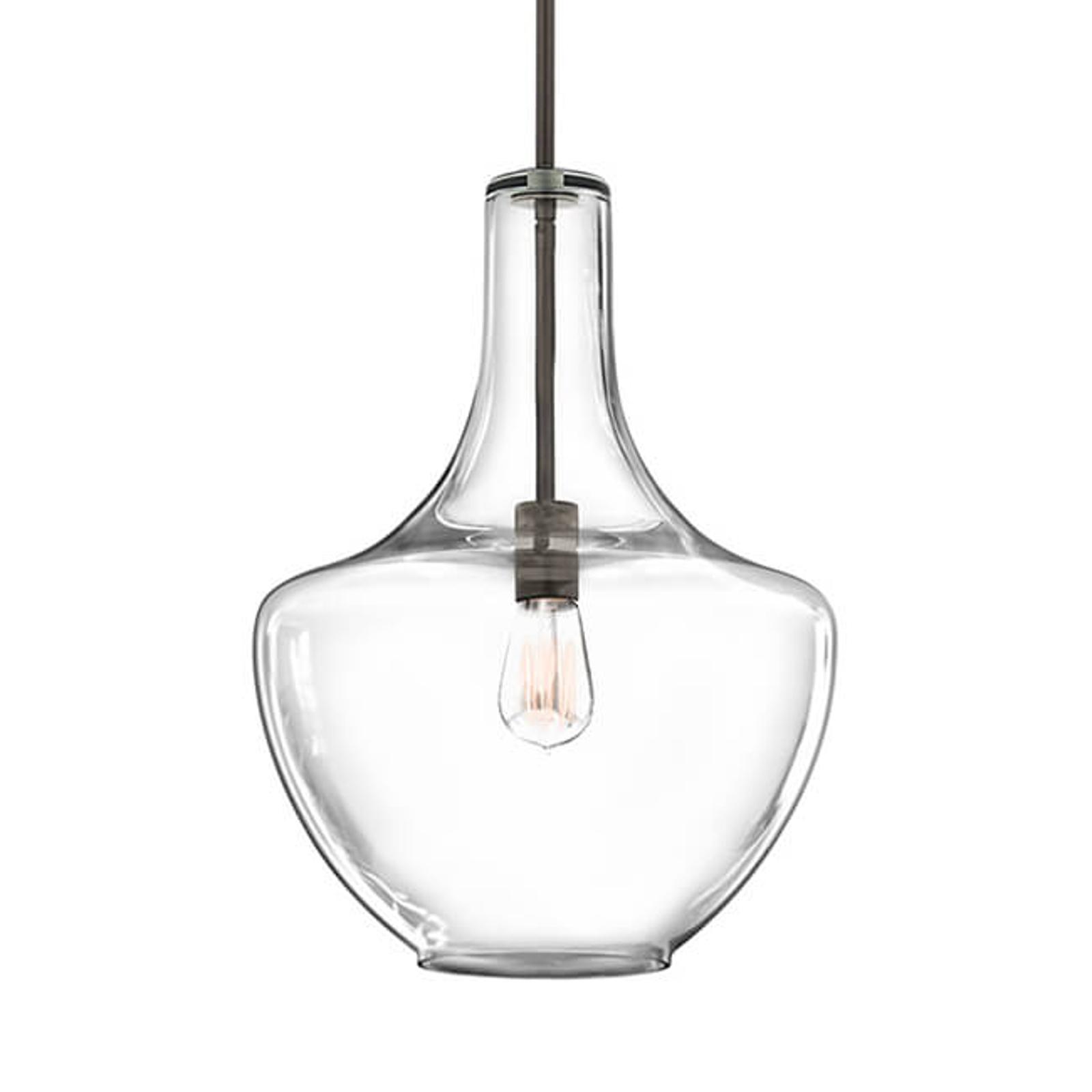 Oprawa: stary brąz – średnia lampa wisząca Everly