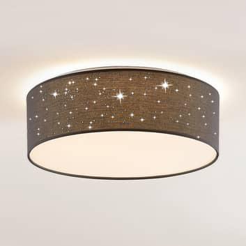 Lindby Ellamina plafón LED 40 cm gris oscuro