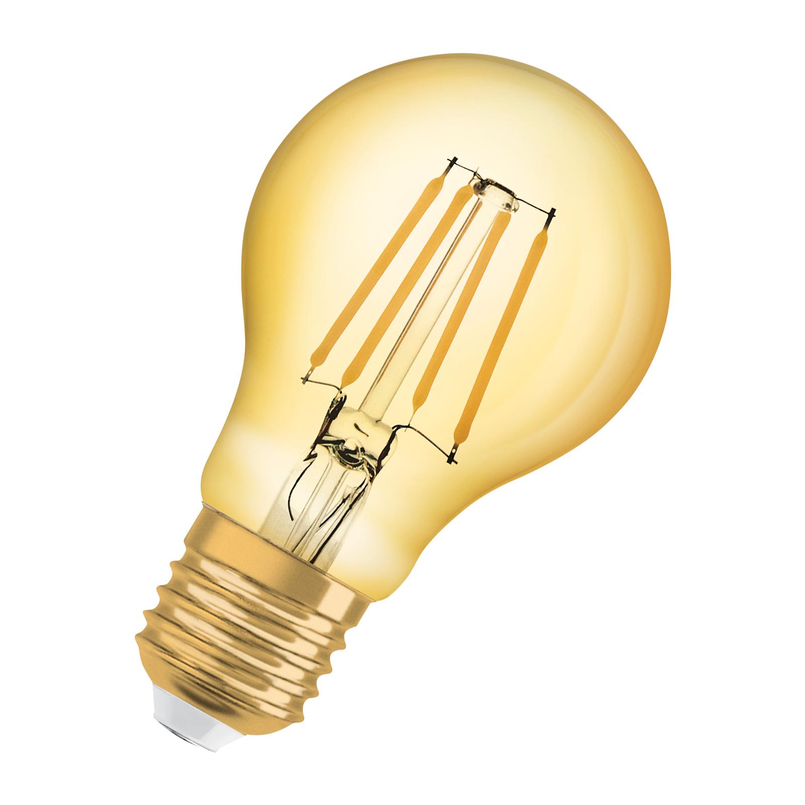 OSRAM LED žárovka E27 Vintage1906 6,5W 2400K zlatá