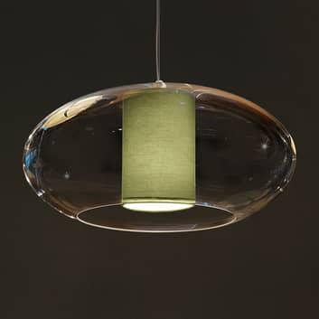 Modo Luce Ellisse lámpara colgante tela Ø 60 verde