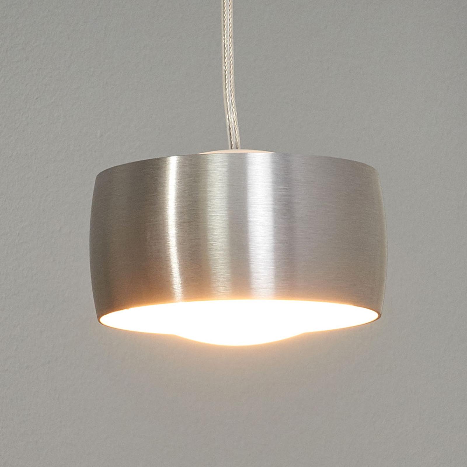 Elegancka lampa wisząca GRACE srebrny mat