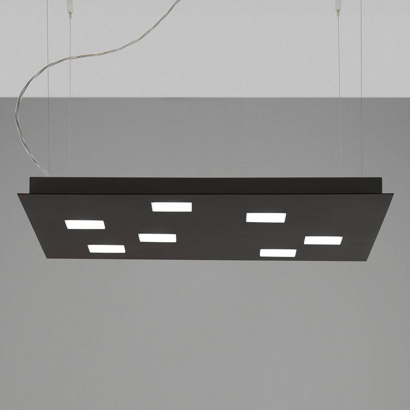 Kwadratowa lampa wisząca LED Quarter, czarna