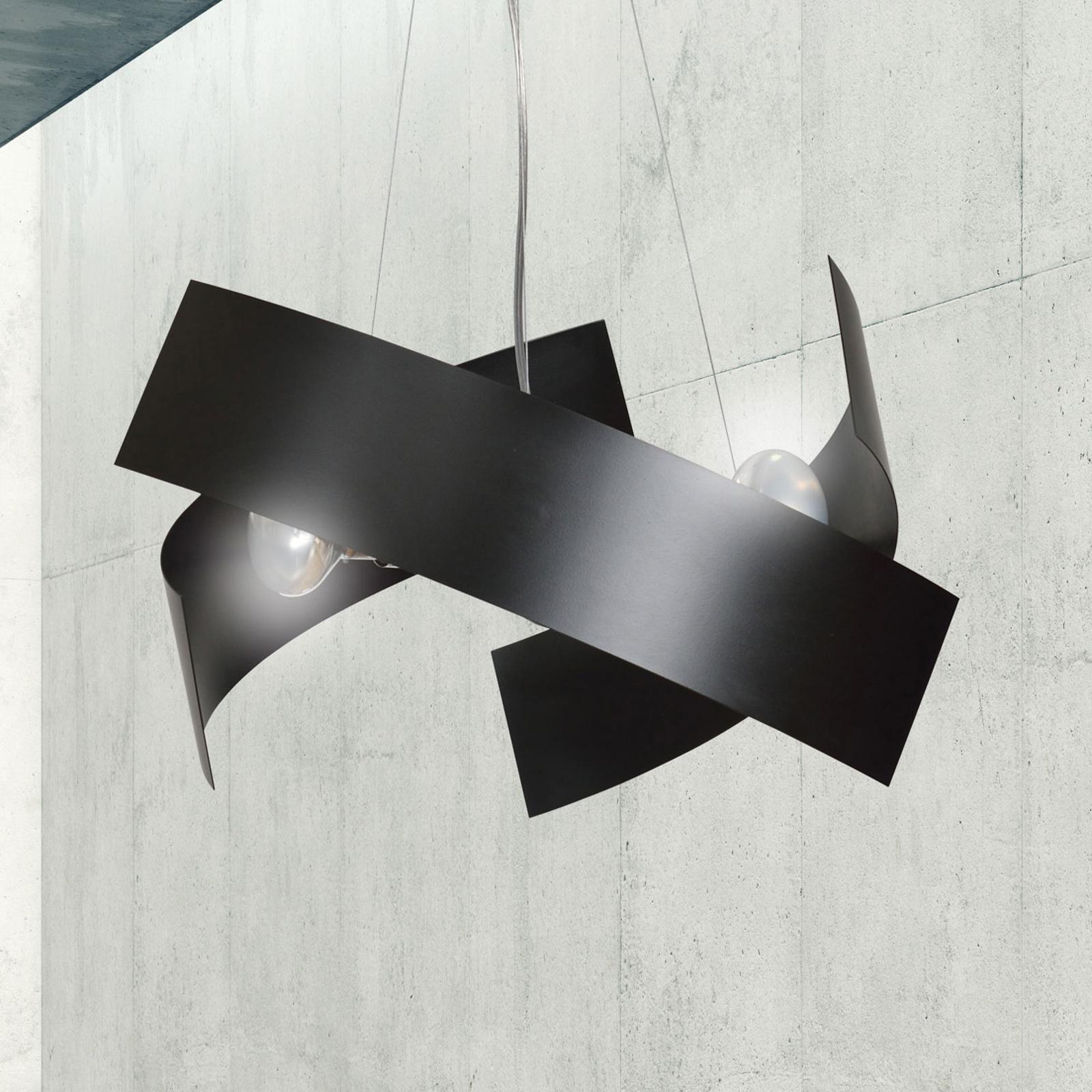 Pendellampe Modo av metall i svart