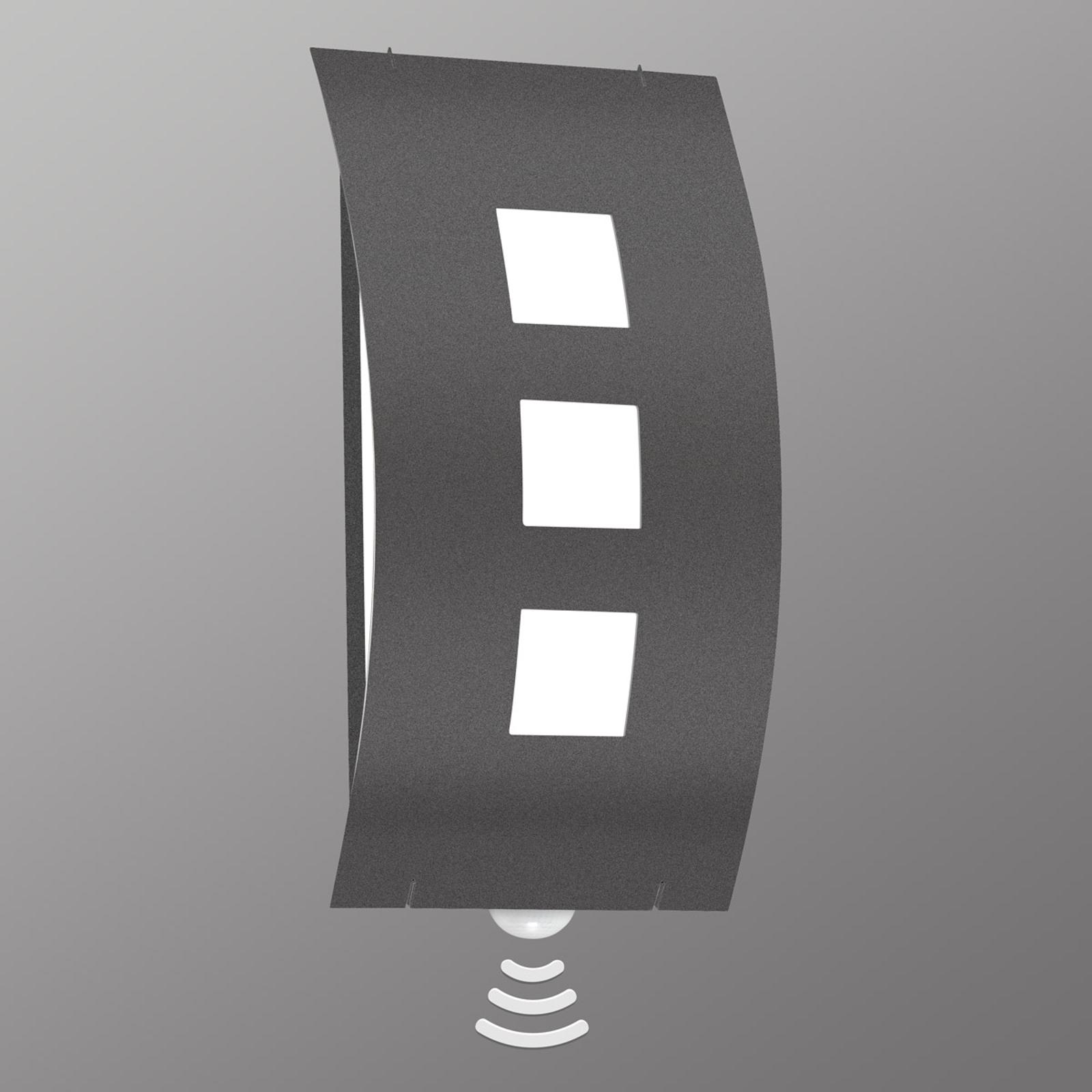 Eenvoudige buitenwandlamp Graal, met sensor