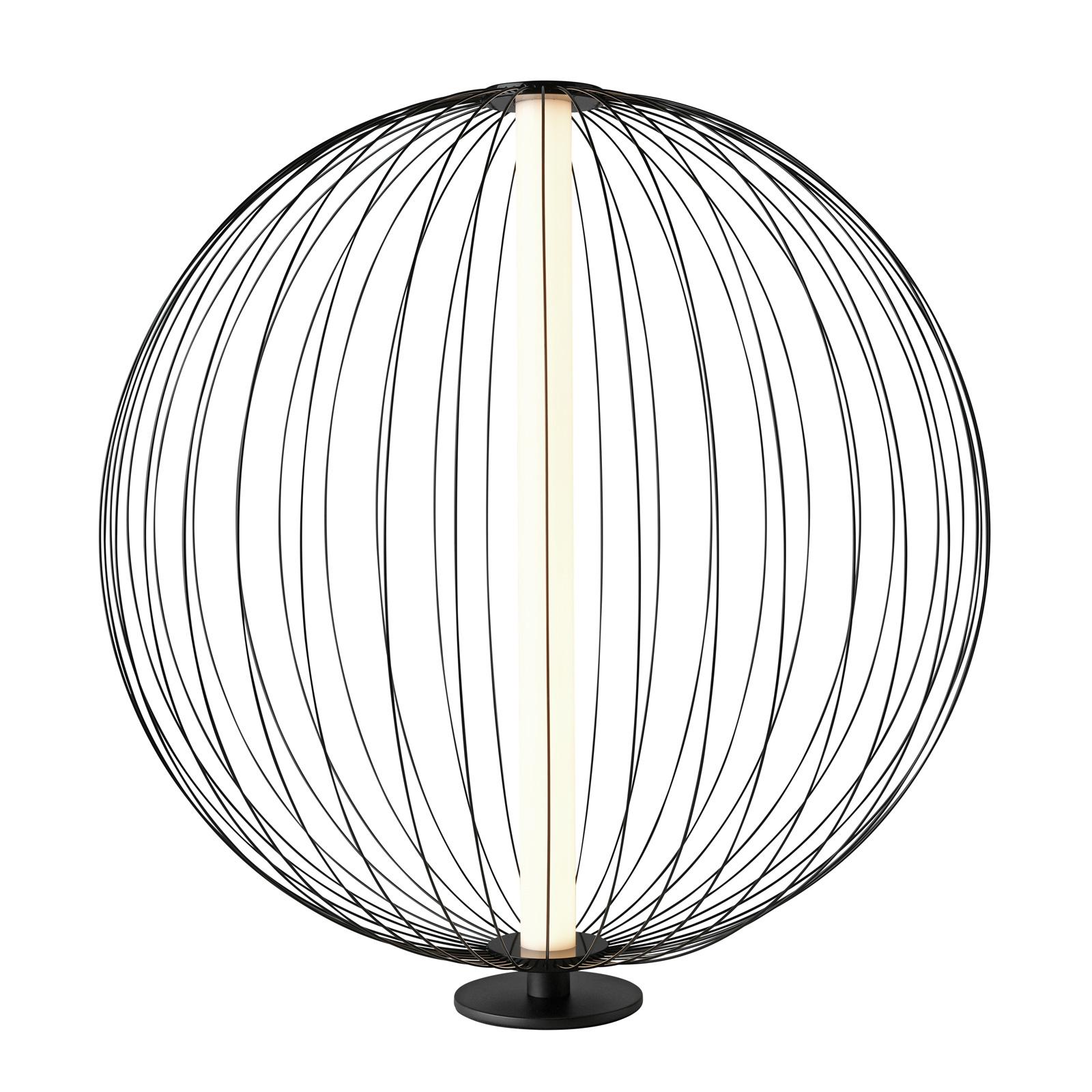 LED-Tischlampe Atomic, Schirm veränderbar