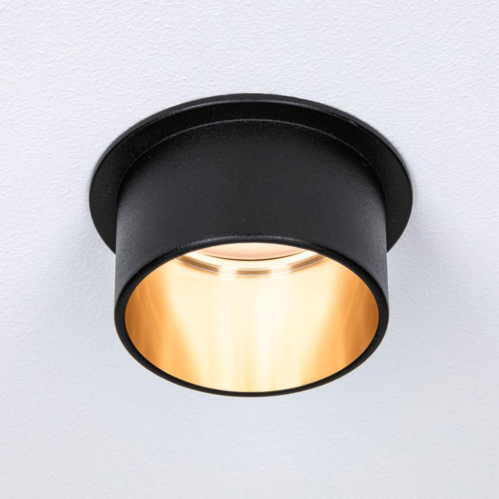 Paulmann Gil LED-innfelt svart matt/gulll