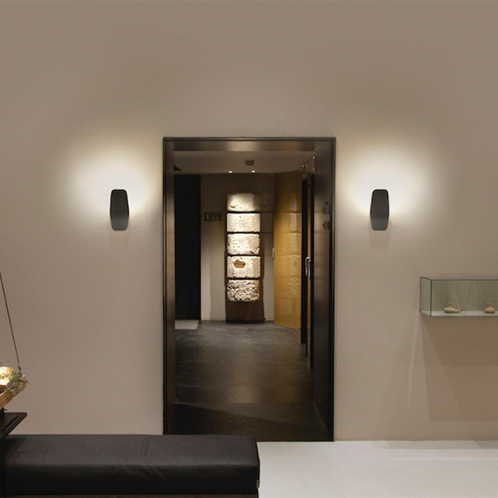 Casablanca Ashiya LED wandlamp, smaragdzwart