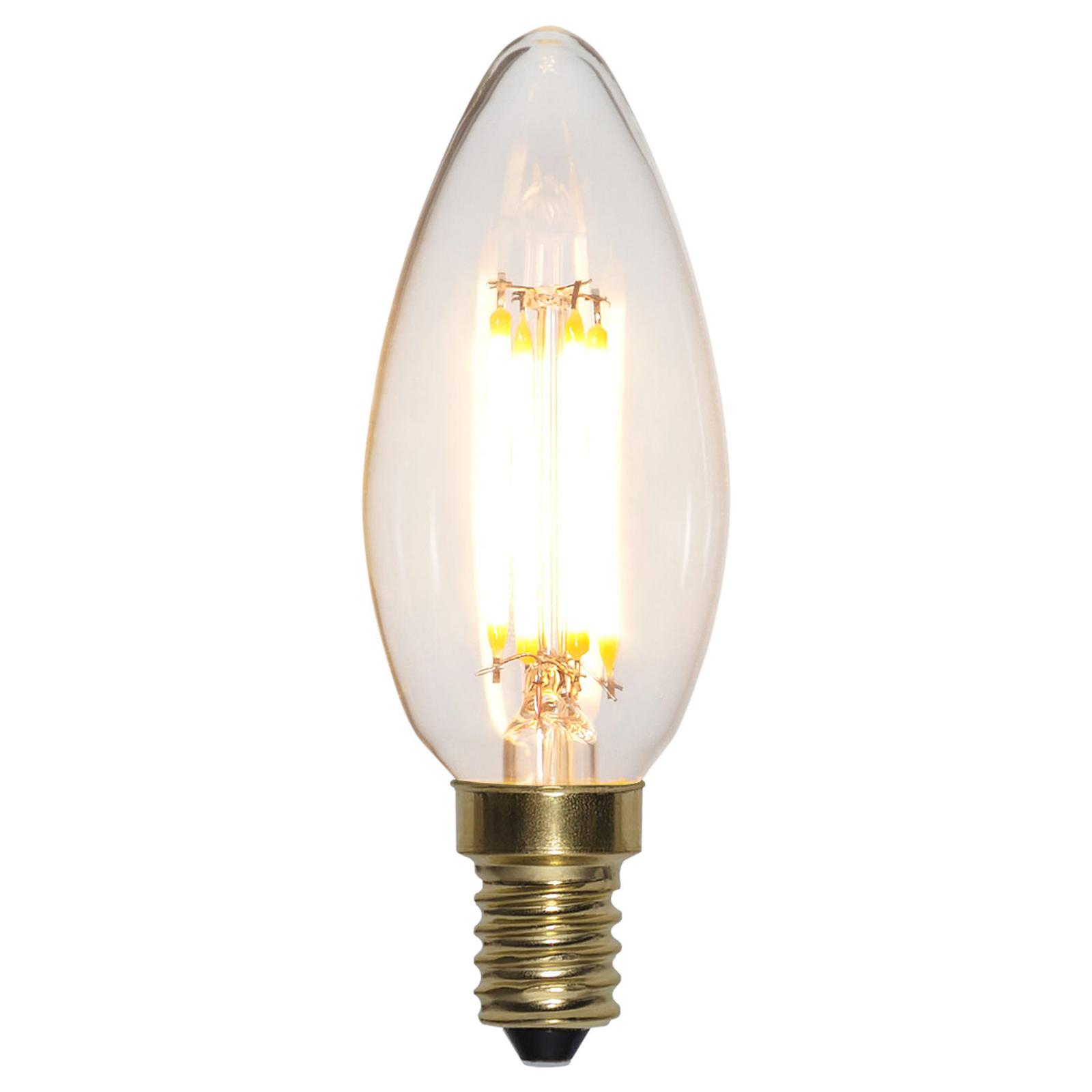 Soft Glow LED-kerte E14 4W 2.100K, dæmpes i 3 trin