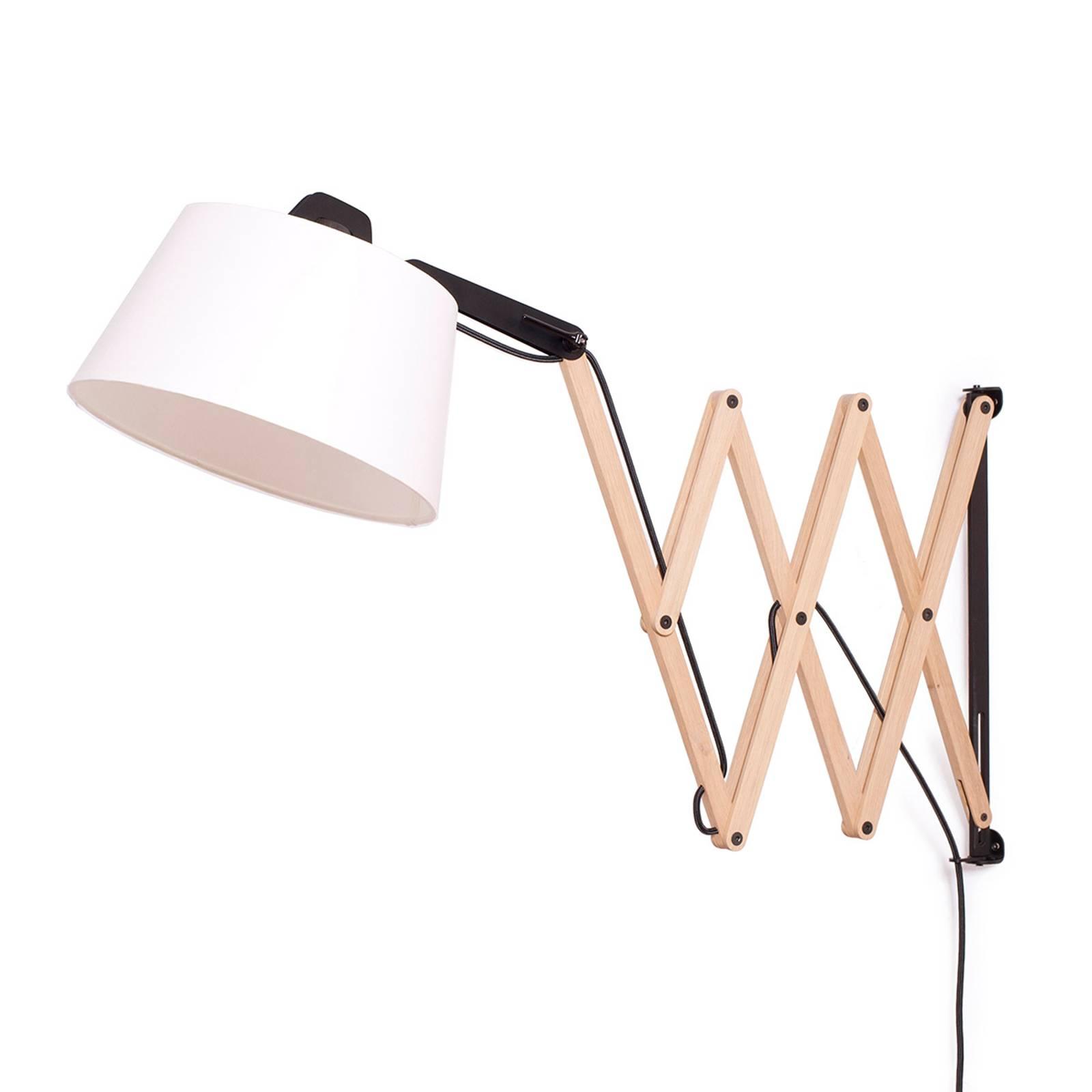 Wandlamp Edward met schaararm, ivoor