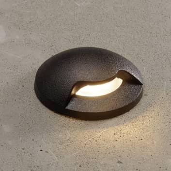 Lampe encastrée LED Aldo 1L noire/transp 3000K