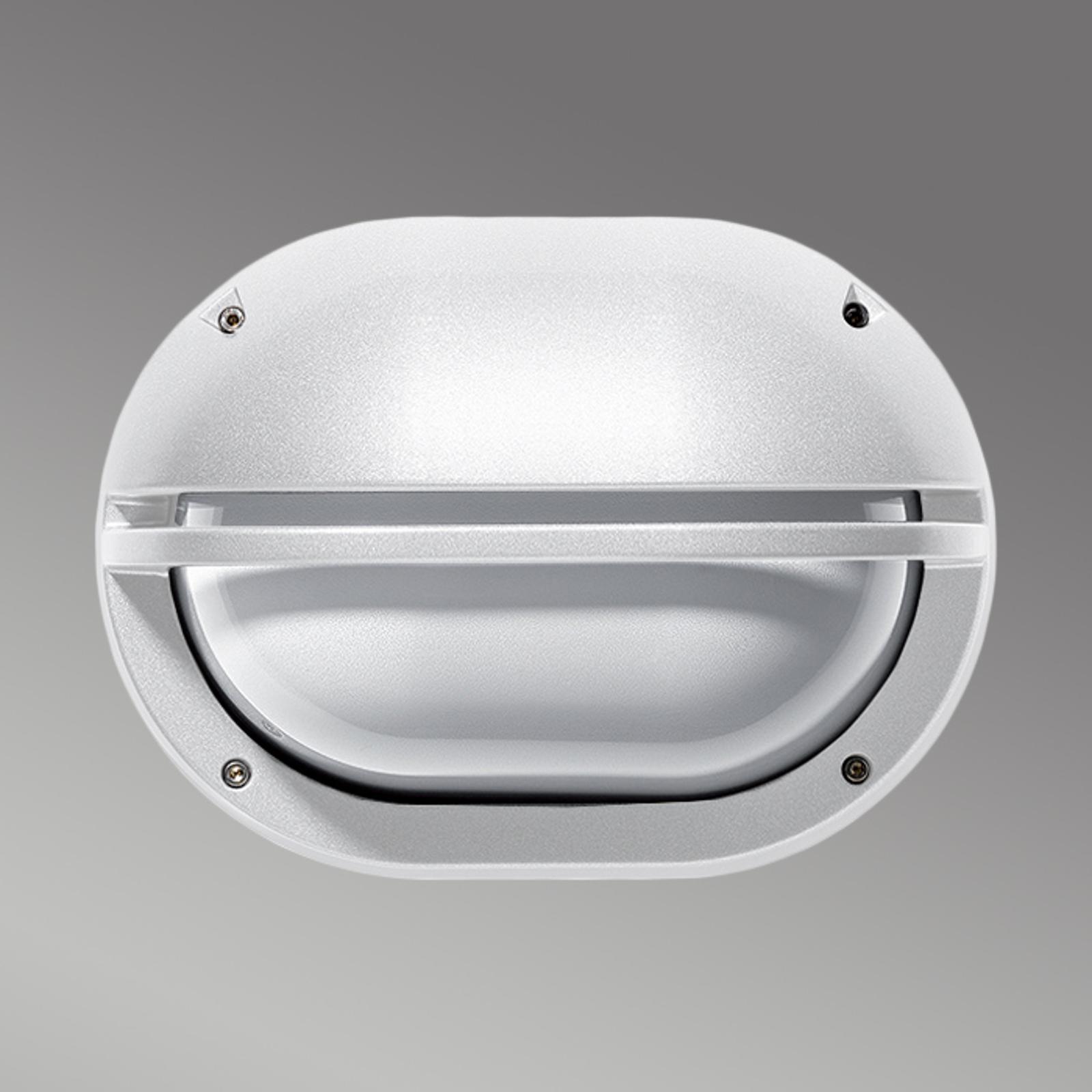 Zewnętrzna lampa ścienna EKO z osłoną, biała