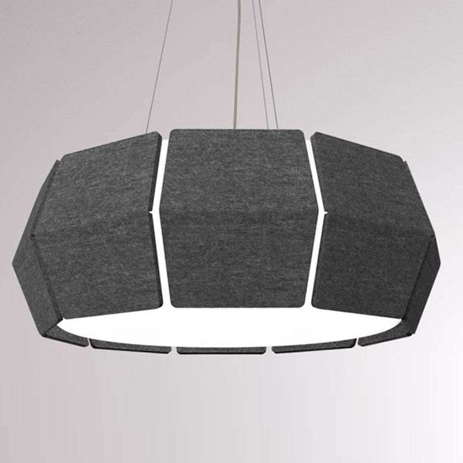 LOUM Decafelt lampa wisząca LED czarna Ø 76 cm