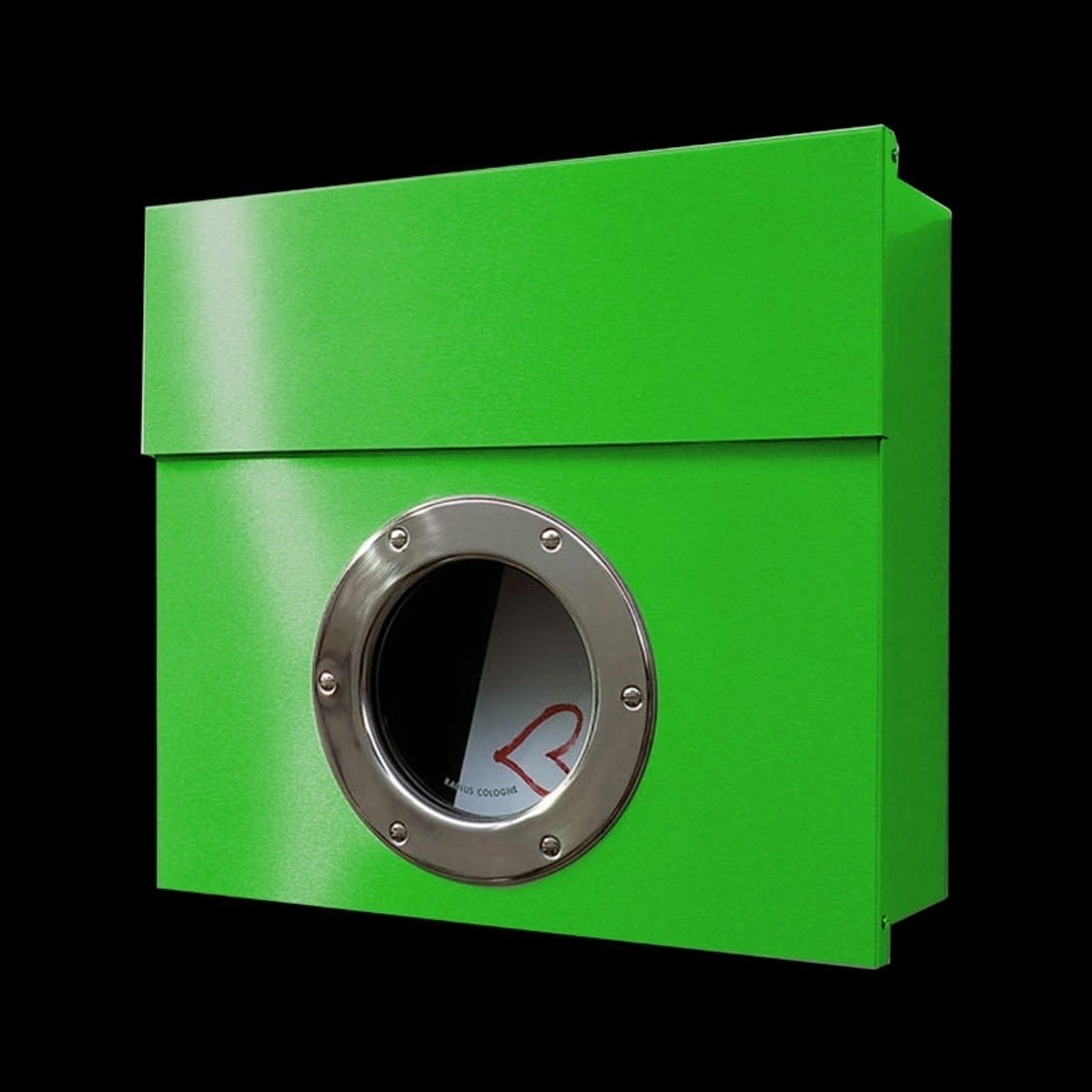 Postkasse Letterman I med utpreget design, grønn