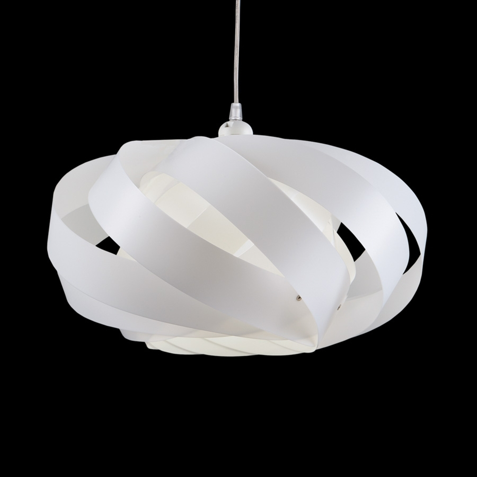 Lámpara colgante Mininest de rayas, blanco