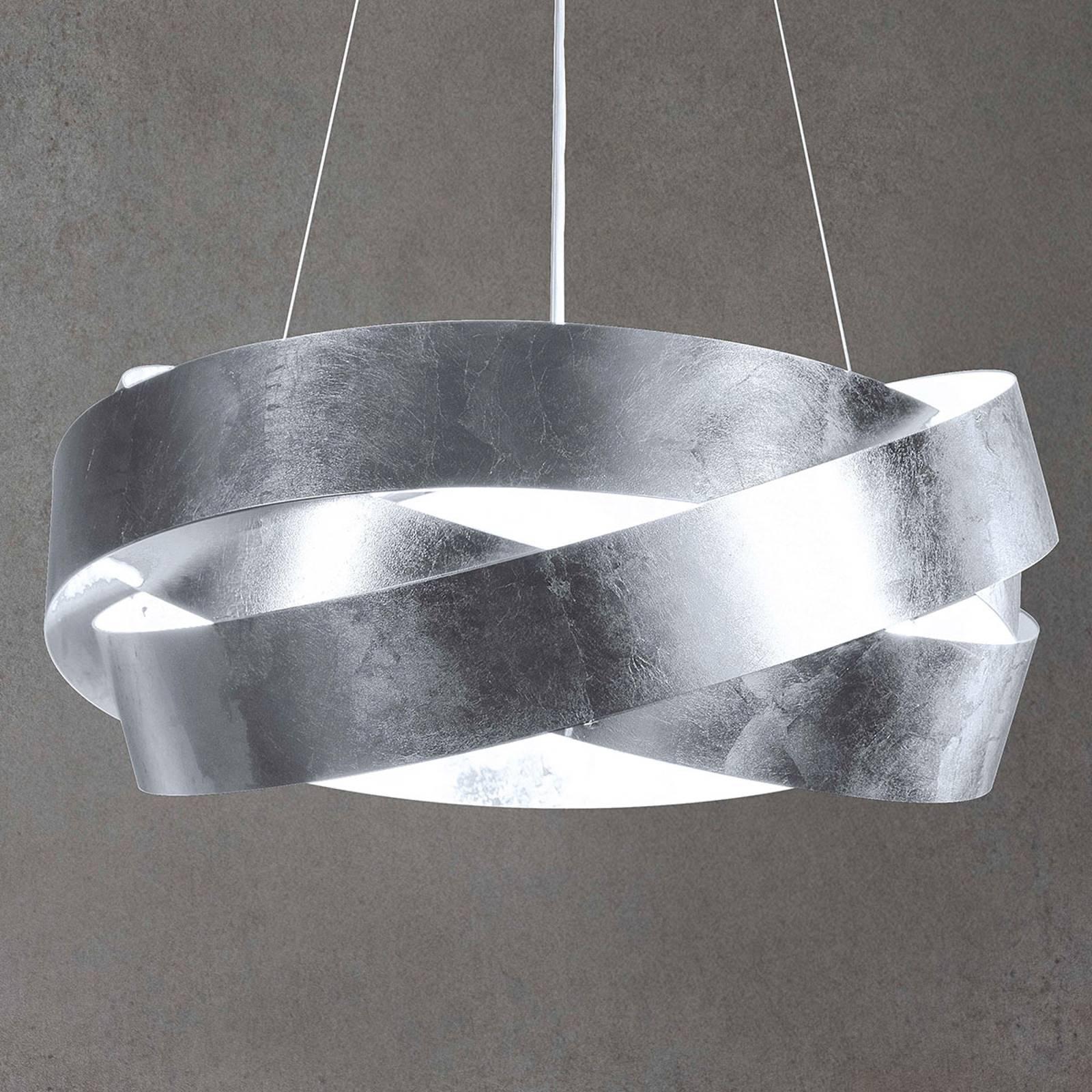 LED-Hängeleuchte Pura mit Blattsilber, 100cm